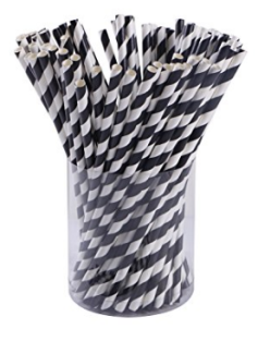 Black & White Straws